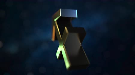 strzelec : Rotating gold Sagittarius Zodiac sign, loopable 3D animation