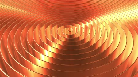 медь : Rotating shiny copper coil. Loopable 3D animation