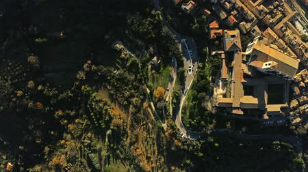 montanhoso : Aerial top down shot of Perugia. Italy Stock Footage