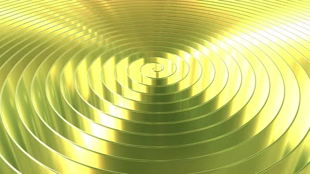 spil : Spinning shiny golden coil. Loopable 3D animation