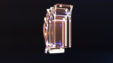 horoszkóp : Rotating glass Virgo Zodiac sign, loopable 3D animation Stock mozgókép
