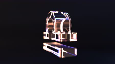 terazi burcu : Rotating glass Libra Zodiac sign, loopable 3D animation