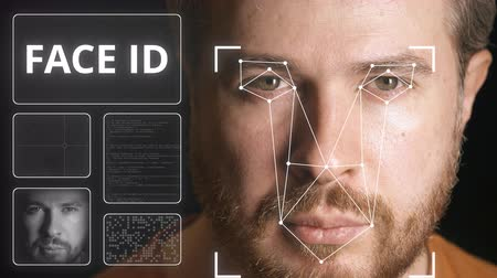 face id : Computer security system scans human face
