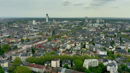 main : Aerial view of residentail area of Frankfurt am Main, Germany Stock Footage