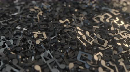 голос : Pile of musical notes. Conceptual 3D animation Стоковые видеозаписи