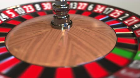 esély : Casino roulette wheel ball hits 30 thirty black. 3D animation