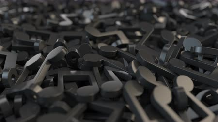 dizgi : Black musical notes, 3D animation