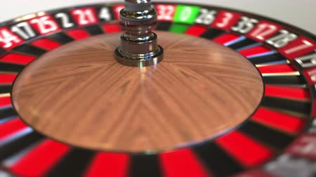 olasılık : Casino roulette wheel ball hits 36 thirty-six red. 3D animation