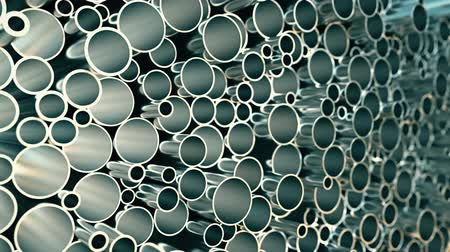 csőrendszer : Big pile of pipes, loopable motion background Stock mozgókép