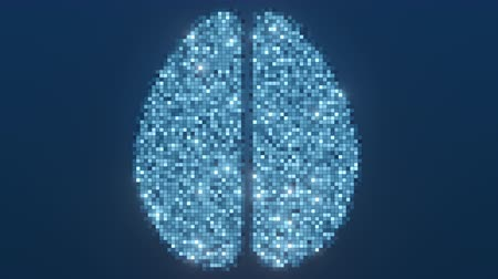 lobe : Scanning human brain. Conceptual loopable motion background