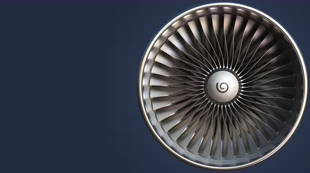compressor : Rotating blades of turbine, loopable motion background Stock Footage
