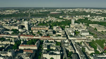 warschau : Aerial view of Warsaw from the city centre towards the Vistula River. Poland