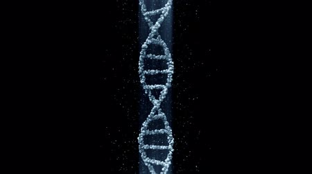 dizi : Blue DNA molecule, seamless loop