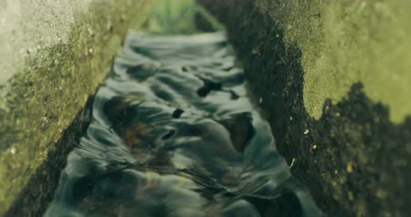 wetness : A small creek between two stones. Macro view. Shot on Red camera Stock Footage
