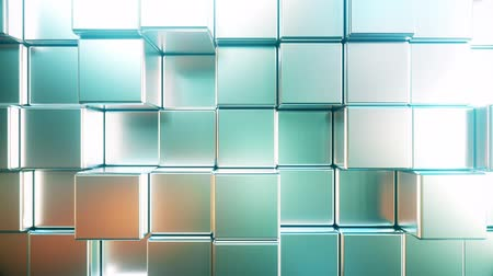 polido : Reflective metallic square bars, loopable 3D animation Stock Footage