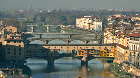 vecchio : Famous Ponte Vecchio and other bridges in Florence, Italy