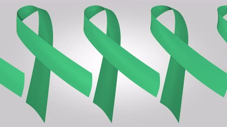 salva vidas : Hepatitis B and liver cancer awareness jade ribbons. Loopable motion background Vídeos