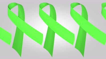 salva vidas : Lymphoma awareness lime green ribbons. Loopable motion background