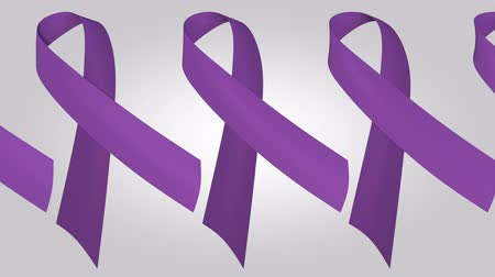 salva vidas : Epilepsy or pancreatic cancer awareness purple ribbons. Loopable motion background