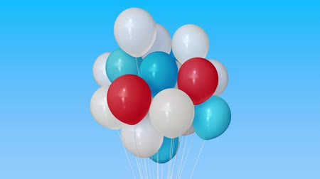 trikolóra : Making a bunch of red, blue and white helium balloons. Gathering together conceptual 3D animation Dostupné videozáznamy