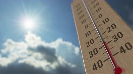 meteorological : Outdoor thermometer reaches minus 10 ten degrees centigrade. Weather forecast related 3D animation