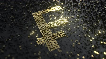 összeg : Swiss Franc CHF sign made of gold numbers. Conceptual 3D animation