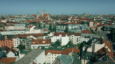münchen : Aerial view of the centre of Munich, Germany