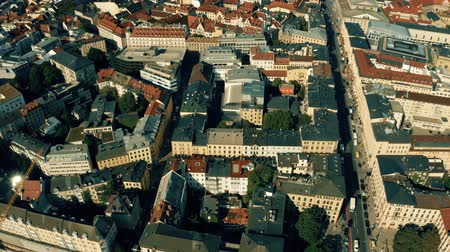 germany : Aerial view of Maximilianstrasse, Munichs royal avenue. Bavaria, Germany