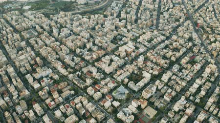 négyszögletes : Aerial view of residential buildings in Athens, Greece Stock mozgókép