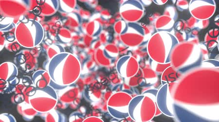 pepsico : Many moving logos of PEPSI. Editorial loopable motion background