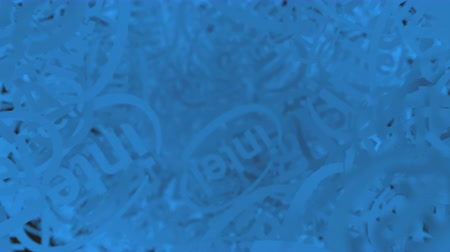 intel : Many moving logos of INTEL. Editorial loopable motion background Stock Footage