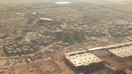 pavilion : Aerial view of a big construction site in the desert