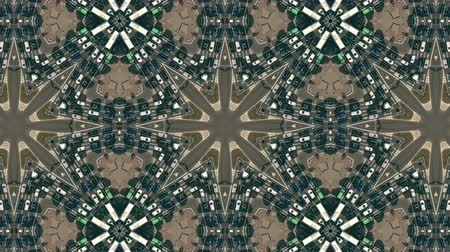 congested : Kaleidoscopic effect aerial down view of a street traffic jam