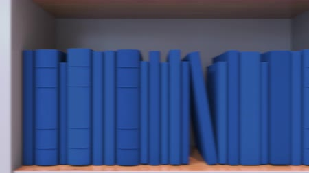livraria : Spines of books compose flag of Ukraine. Ukrainian culture or science Stock Footage