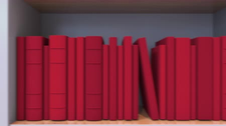 livraria : Spines of books compose flag of Costa Rica. Costa Rican Literature, culture or science Stock Footage