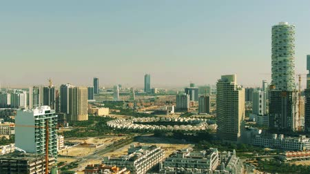 residencial : Aerial view of Jumeirah Village Circle community in Dubai. UAE Stock Footage
