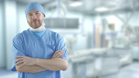 очки : Portrait of a confident surgeon in the operating room. Shot on Red camera