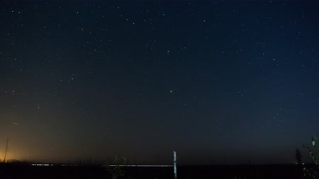 perseids : Perseids meteor shower, falling stars on time lapse shooting in long exposure