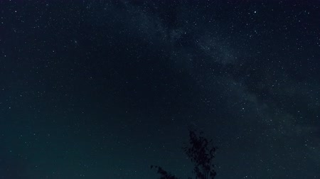 perseids : The meteor shower on starry sky, time lapse shooting on long exposure