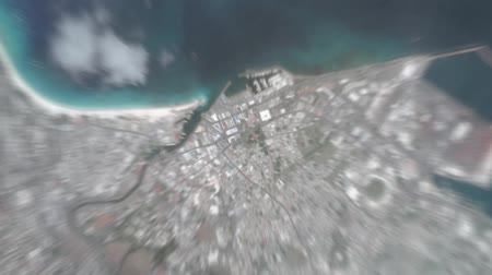 planeta : Bridgetown Barbados visto desde el espacio hasta el nivel de la calle. Se puede usar fácilmente para videos de marketing turístico, videos de marketing empresarial o videos de presentación profesional.