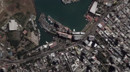 Port Louis Mauritius seen from space to street level