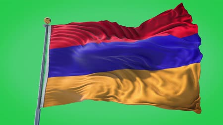 armenia : Armenia animated flag in the wind with blue sky in the background, green screen, blue screen or isolated background and the flag on the full background, all in one animated flag pack.