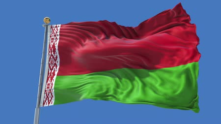 Belarus animated flag in the wind with blue sky in the background, green screen, blue screen or isolated background and the flag on the full background, all in one animated flag pack. Dostupné videozáznamy