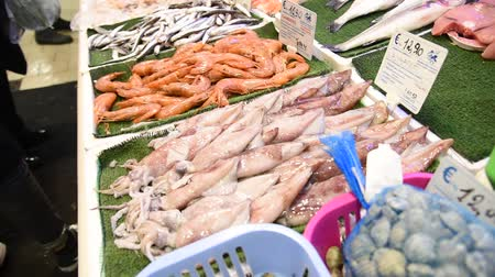 cotidiano : Daily fish market in Rome with fresh product