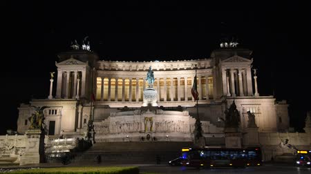 Altar of the Fatherland in Rome, night view