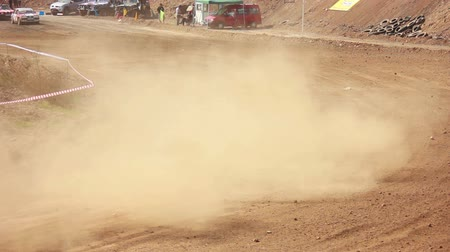 motorsports : Autocross on a dirt road by car buggy