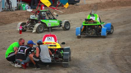 motorsports : Buggy car on the track before the start