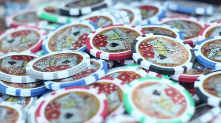 leuven : Casino chips Stockvideo