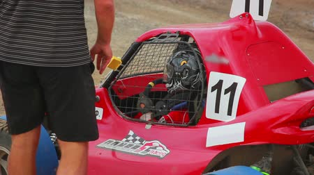 motorsports : Buggy driver in the car before the start