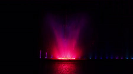 światło : Europes largest musical fountain with 3D effects and laser show. Vinnitsa. Ukraine.